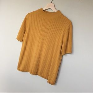 Kim Rogers Mustard High Neck Top